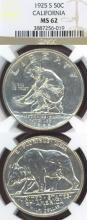 1925 California Jubilee US commemorative silver half dollar