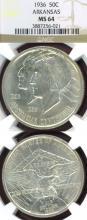 1936 Arkansas US Silver Commemorative Half Dollar