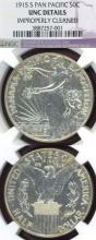 "1915-S 50c ""Panama Pacific"" US silver commemotative half dollar"
