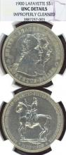 1900 Lafayette Dollar US Silver dollar commemorative