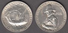 1920 Pilgrim US commererative silver half dollar