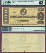 T-70 $2 1864 Confederate Currency civil war