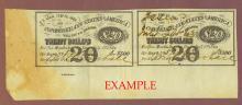 1863 Confederate Bond Interest coupons $500 Bond