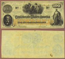 T-41 $100 1862 Confederate Sates of America