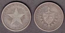 1915 40c Collectable silver coins Cuba