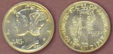 1927 10c US silver dime