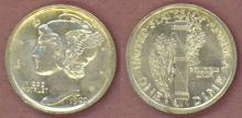 1920-D 10c US mercury head silver dime