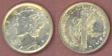 1919 10c US mercury head silver dime