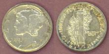 1917-S 10c US mercury head silver dime