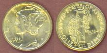 1938-D 10c US mercury silver dime