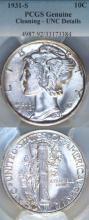 1931-S 10c US Mercury silver dime PCGS