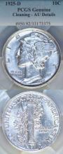 1925-D 10c US Mercury silver dime PCGS