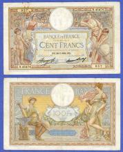 1934 100 Francs collectable paper money France
