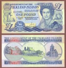1984 1 Pound Falkland Island currency