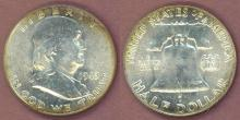 1949 50c US Franklin silver half dollar