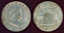 1949-S 50c US Franklin silver half dollar