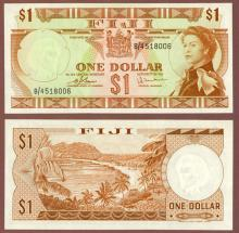 1974 1 Dollar Fiji paper money