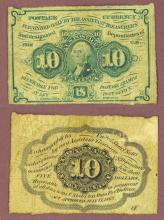 10 Cent First Issue FR-1242 US fractional currency civil war