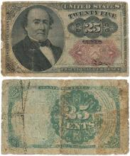 25 Cent Fifth Issue FR-1309 US Fractional currency
