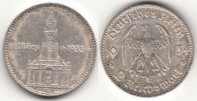 1934-F 2 Mark Nazi German silver coin