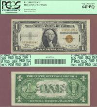 """1935-A $1.00 FR-2300 """"Hawaii"""" US emergency issue silver certificate"""