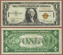 """1935-A $1.00 FR-2300 """"Hawaii"""" US emerdency issue"""
