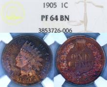 "1905 US Indian cent ""Proof"""