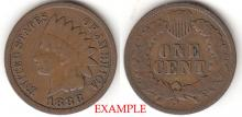 1888 1c Indian Head Penny, Indian head cent