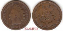 1887 1c Indian Head Penny, Indian head cent