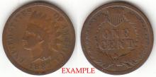 1883 1c Indian Head Penny, Indian head cent