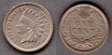1860 1c US Indian head cent