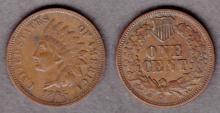 1865 1c US Indian cent