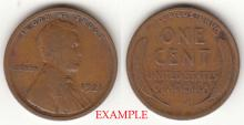 1921 1c Lincoln cent wheat cent