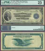 1918 $1.00 FR-745 US Large size federal reserve bank note San Francisco
