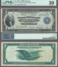 1918 $1.00 FR-710 Large US Federal Reserve Bank Note Boston