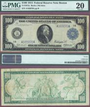 1914 $100 FR-1084 PMG Very Fine 20 Large Federal Reserve Note