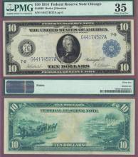 1914 $10 FR-930 US larege size federal reserve note