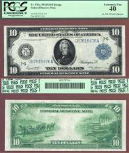 1914 $10 FR-931a US large size federal reserve note