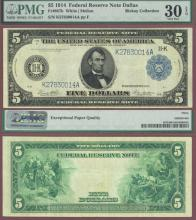 1914 $5 FR-877b US large size federal reserve note Dallas