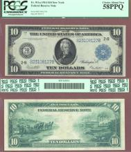 1914 $10 FR-911a New York US large federal reserve note