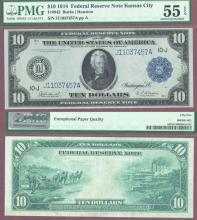 1914 $10 FR-942 Kansas City US large size federal reserve note