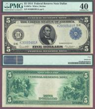 1914 $5 FR-887a Dallas US large size federal reserve note