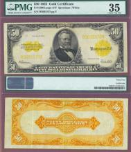 1922 $50 FR-1200 US Gold Certificate PMG Choice Very Fine 35