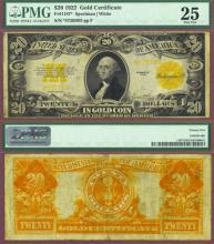 "1922 $20 FR-1187* ""STAR Note"" US large size gold certificate replacement note"