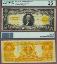 1922 $20 FR-1187 US large size gold certificate