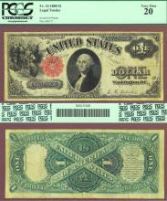 1880 $1.00 FR-34 US large size legal tender note red seal