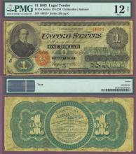 1862 $1.00 FR-16 US large size legal tender note red seal