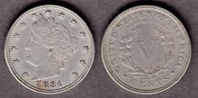 1884 5c US Liberty Nickel five cent piece