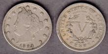 1893 5c US Liberty Head Nickel five cent piece