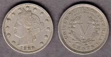 1889 5c US Liberty V nickel